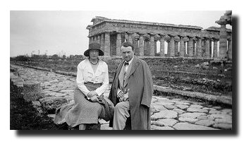 MacGreevy with Bridget Patmore at Paestum, Italy